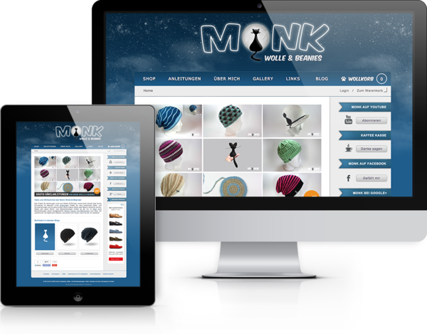 Monk Wolle & Beanies Website
